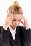 Businesswoman with a headache Royalty Free Stock Photography