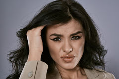 Businesswoman with headache Stock Photos