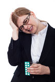 Businesswoman with headache Royalty Free Stock Photography