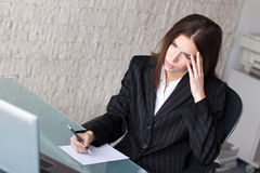 Businesswoman headache Stock Photos