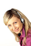 Businesswoman with a headset on Stock Photos