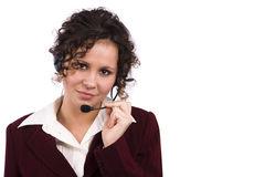 Businesswoman with headset Stock Image