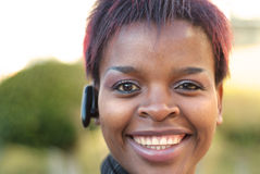 Businesswoman and headset Stock Photography
