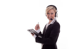 Businesswoman with headset 3 Royalty Free Stock Photo