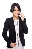 Businesswoman with headset Stock Photos