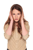 Businesswoman - Hear No Evil Stock Photos