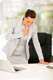 Businesswoman heart attack Stock Photography