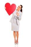Businesswoman heart shape Stock Photos