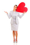 Businesswoman heart symbol Royalty Free Stock Images