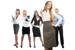 Businesswoman with her colleagues Royalty Free Stock Photography