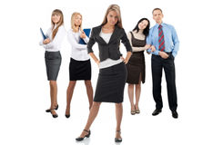 Businesswoman with her colleagues Stock Image