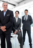 Businesswoman and her colleagues in a row Stock Photography