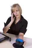 Businesswoman at Her Desk Working Royalty Free Stock Image