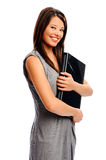 Businesswoman with her laptop Royalty Free Stock Images