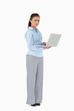 Businesswoman with her laptop Stock Photos