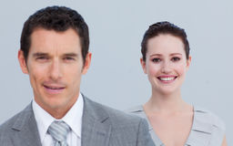 Businesswoman with her male colleague Stock Photography
