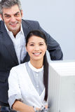 Businesswoman and her manager working Royalty Free Stock Image