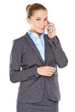 Businesswoman on her mobile phone Royalty Free Stock Image