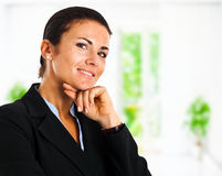 Businesswoman in her office Royalty Free Stock Photo