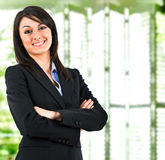 Businesswoman in her office Royalty Free Stock Image