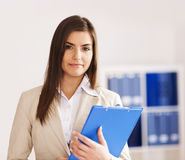 Businesswoman at her office Stock Photos