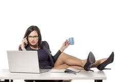 Businesswoman in her office Royalty Free Stock Photography