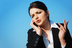 Businesswoman on her phone Royalty Free Stock Images