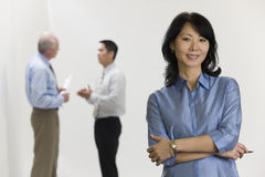 Businesswoman with her team. Stock Images