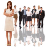 Businesswoman and her team Stock Images