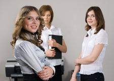 Businesswoman with her team Stock Photo