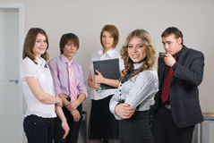Businesswoman with her team Royalty Free Stock Photography
