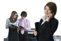 Businesswoman with her team Stock Image