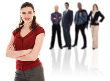 Businesswoman with her Team Stock Photography