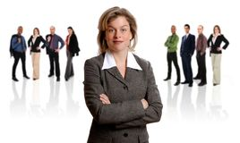 Businesswoman and her Team Royalty Free Stock Photos