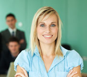 Businesswoman with her team of work Stock Photo