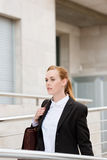 Businesswoman On Her Way To Office Stock Images