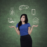 Businesswoman with her wish Royalty Free Stock Photo