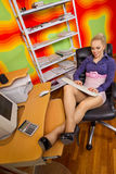 Businesswoman at her workplace Royalty Free Stock Photos