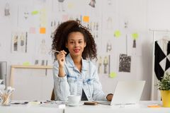Businesswoman at her workplace Royalty Free Stock Photography
