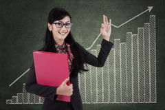 Businesswoman with high performance concept Royalty Free Stock Image