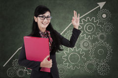 Businesswoman with high performance concept 1 Royalty Free Stock Photography