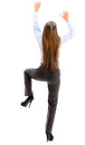 Businesswoman hiking a wall Stock Photography