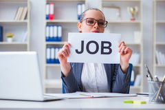 The businesswoman hiring new employees in office. Businesswoman hiring new employees in office Stock Images