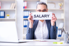 The businesswoman hiring new employees in office. Businesswoman hiring new employees in office Royalty Free Stock Images