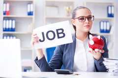 The businesswoman hiring new employees in office Royalty Free Stock Images