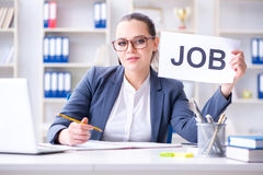 The businesswoman hiring new employees in office Royalty Free Stock Photos