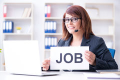 The businesswoman hiring new employees in office Stock Photo