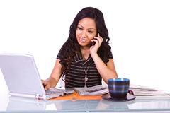 Businesswoman at His Desk Working Stock Photography
