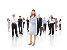 Businesswoman and his team isolated Stock Photo