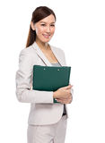 Businesswoman hold with clipboard Royalty Free Stock Photo